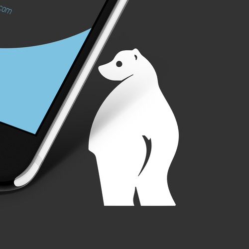 Cute bare-bummed bear for mobile screen protection gel
