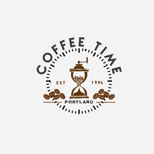 Create a logo for a vintage coffee shop in a trendy Portland Neighborhood.