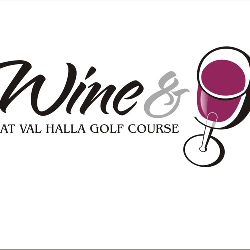 Create the next logo for Wine & Nine at Val Halla Golf Course