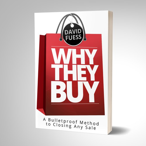 Book cover design for sales strategies.