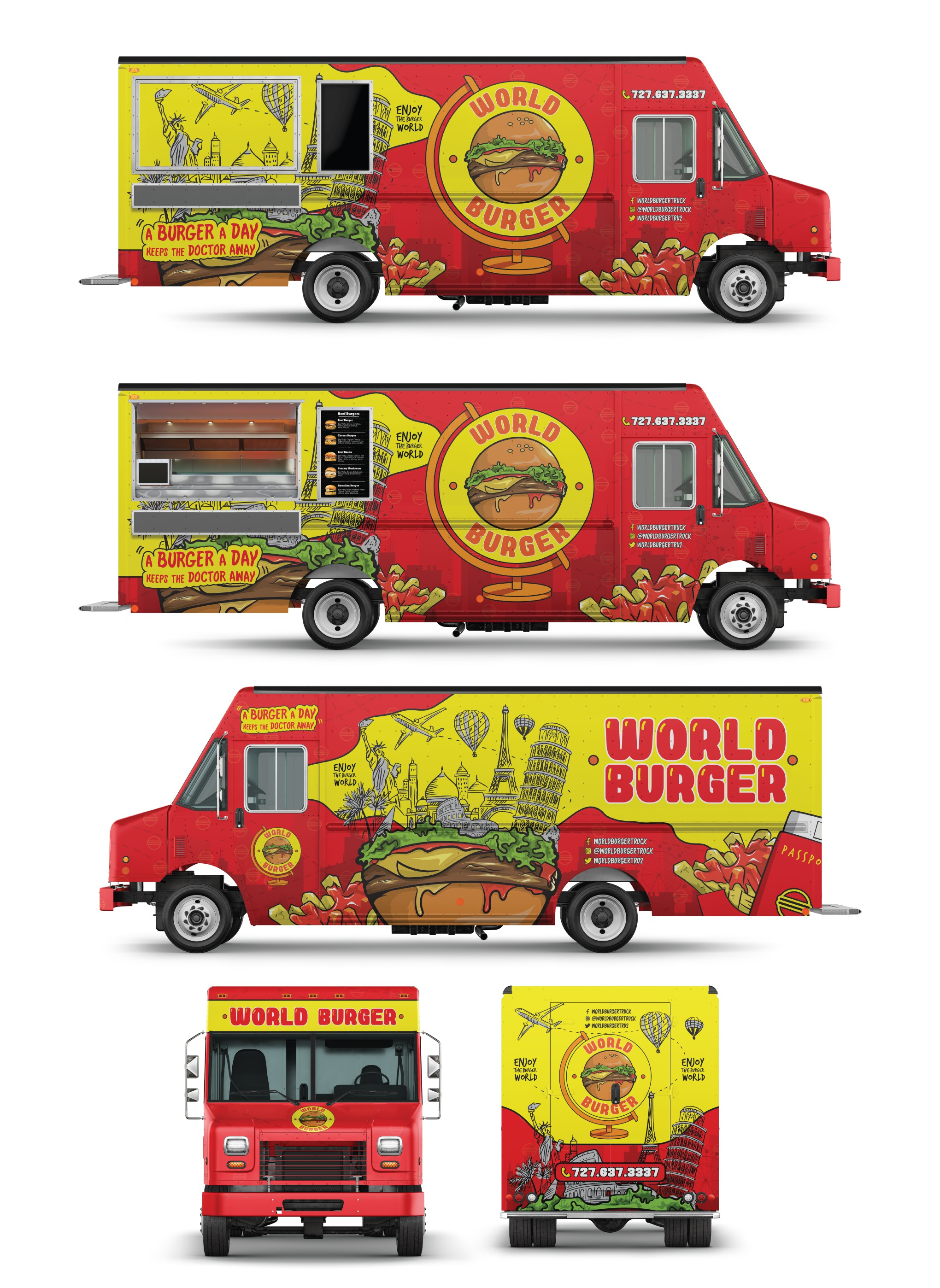 World Burger Food Truck Wrapping