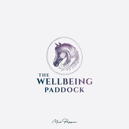 The Wellbeing Paddock logo representing human connection to nature