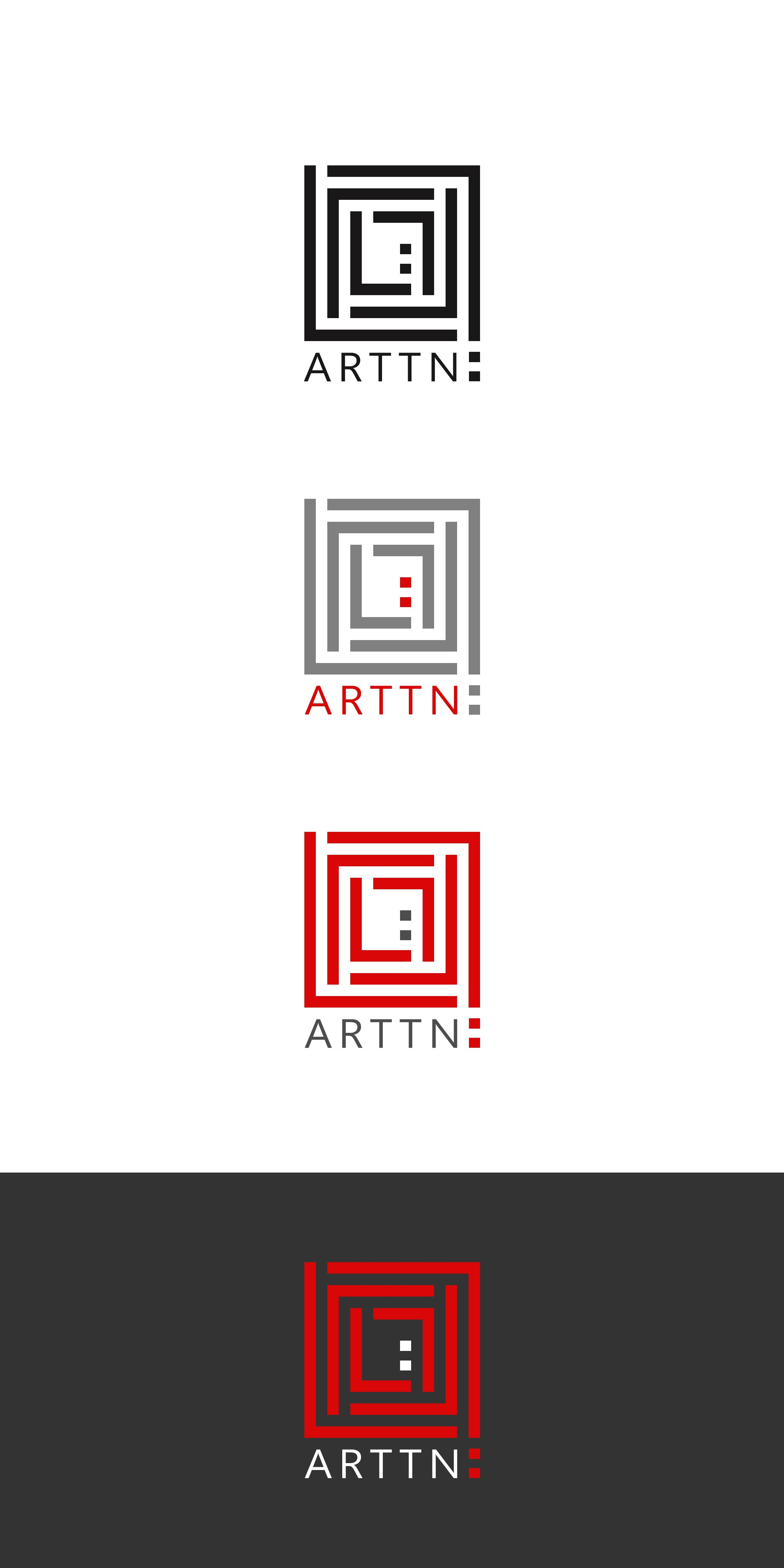Create a logo for an online, commercial art gallery which connects art to action