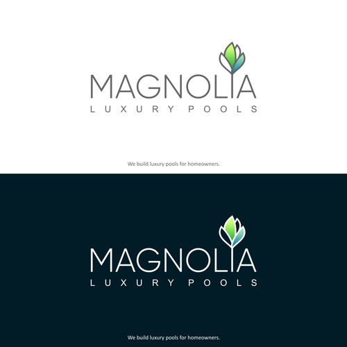 Magnolia Luxury Pools Logo Design
