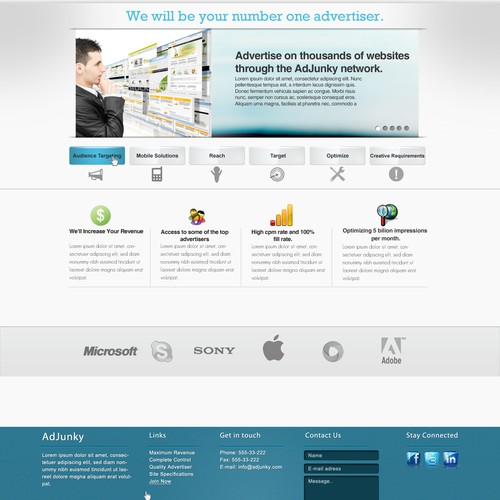 Website Design For AdJunky Advertising Website