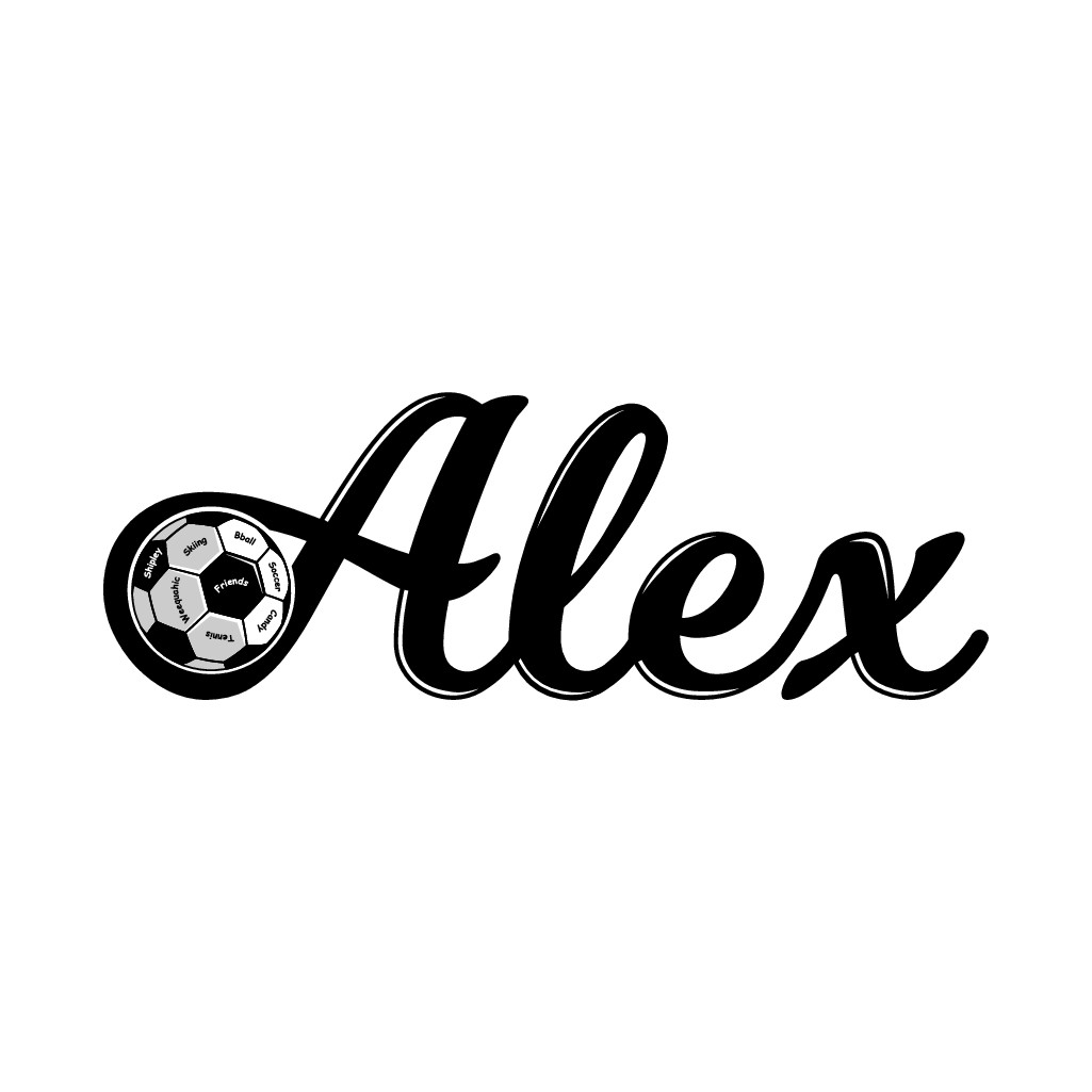 Create an awesome soccer ball logo for my daughter's party