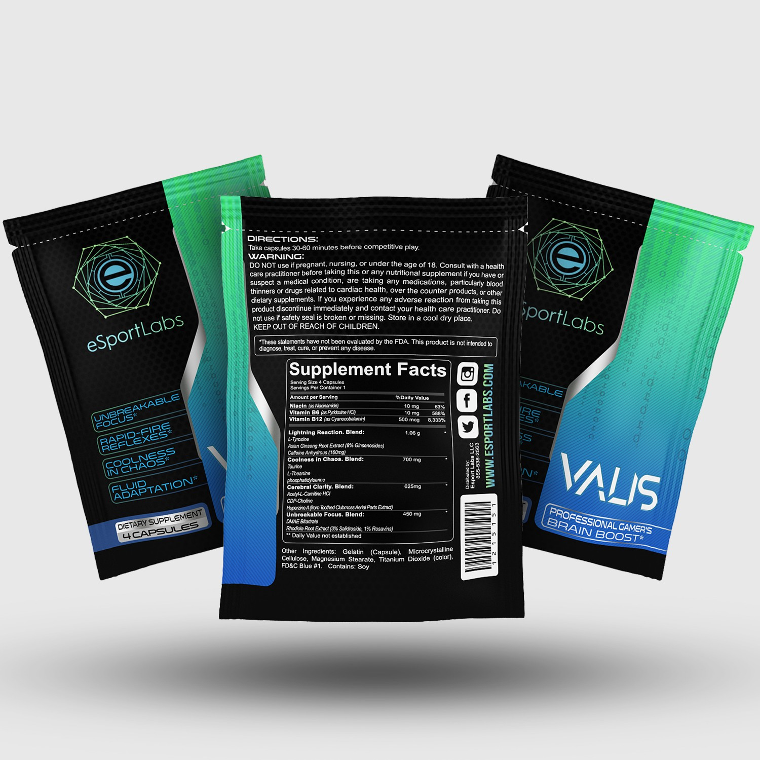 Packaging for Free Sample of Valis