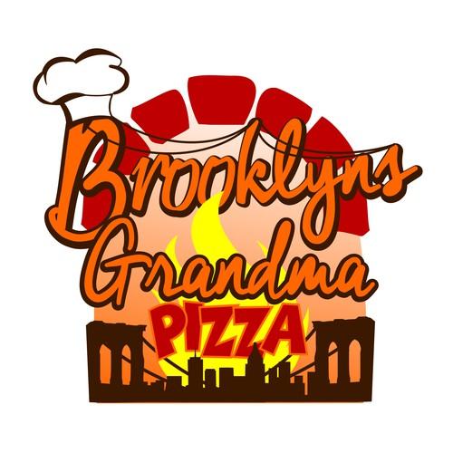 Create a winning logo for Brooklyns Grandma Pizza