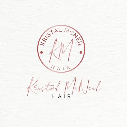 logo for a female hairstylist