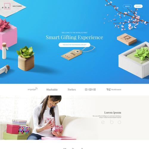 Ebo box  Landing Page