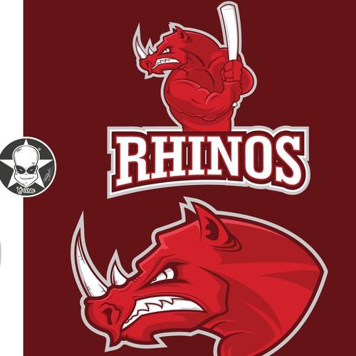 Baseball Logo Rhinos
