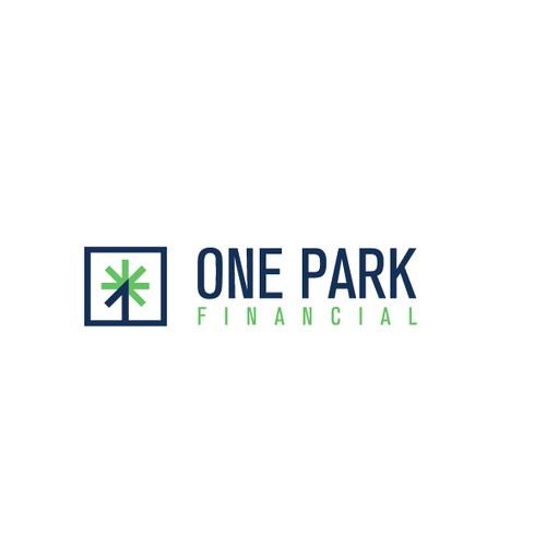 Modern B2B Financial Services Logo for One Park Financial