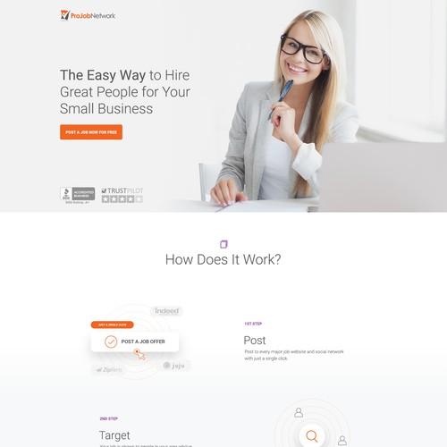 A fresh, ultra-modern homepage for ProJobNetwork