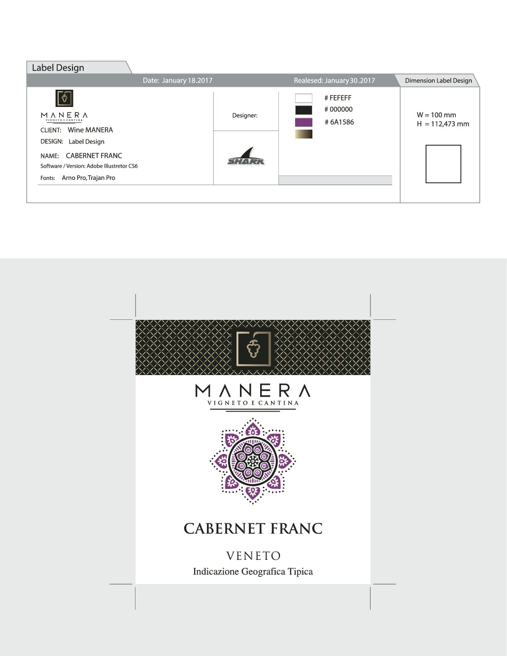 New creative wine label