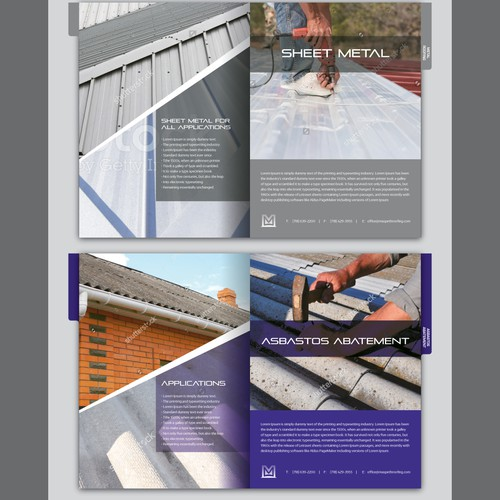 Tabbed Booklet Design for Maspeth Roofing