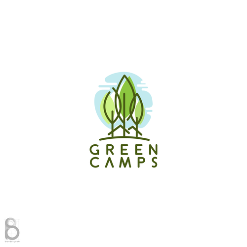 Logo design for Green Camps