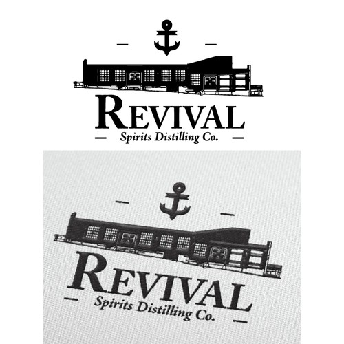 Old School craft distillery logo for Revival Spirits Distilling Co.