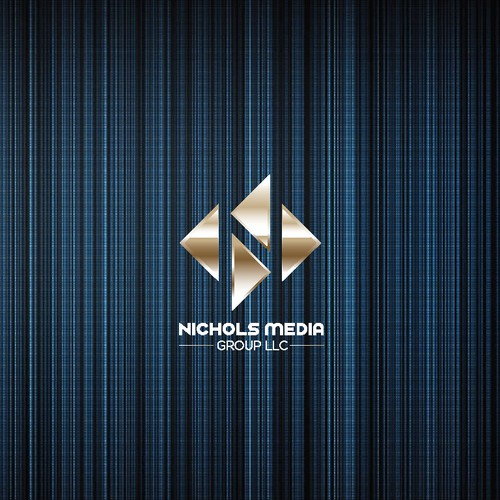 Fancy and simple logo for media group