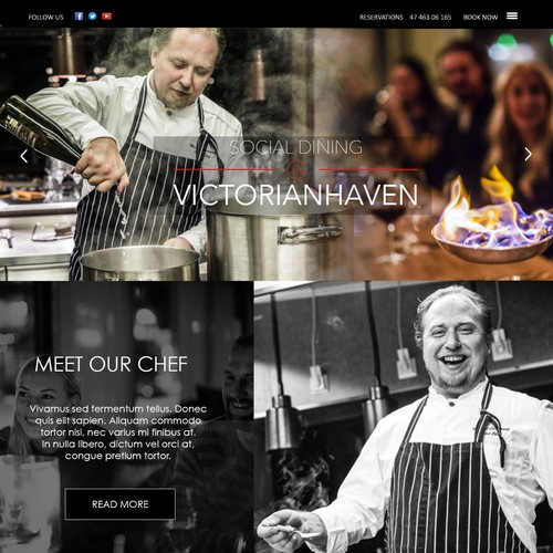 webdesign for a Norway restaurant
