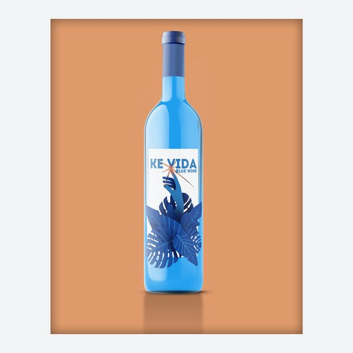 "Label concept for Blue Wine ""Ke VIda"""
