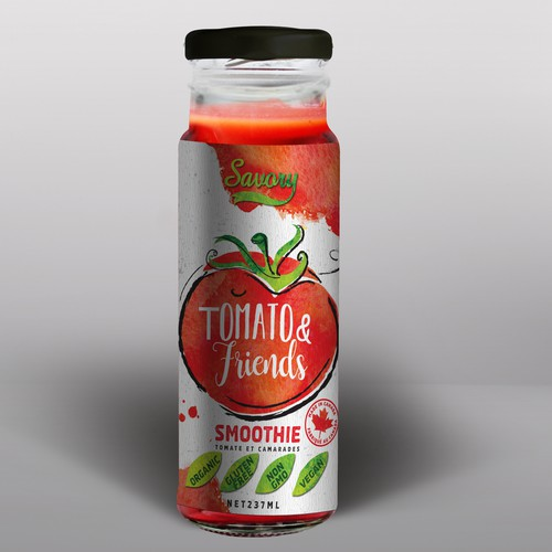 Smoothie Bottle Tomato and Friends