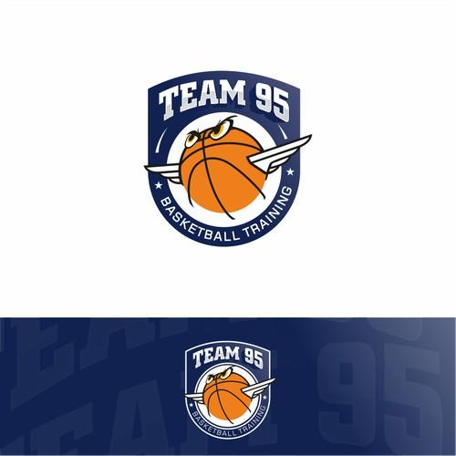 The logo design I made for basketball training. I