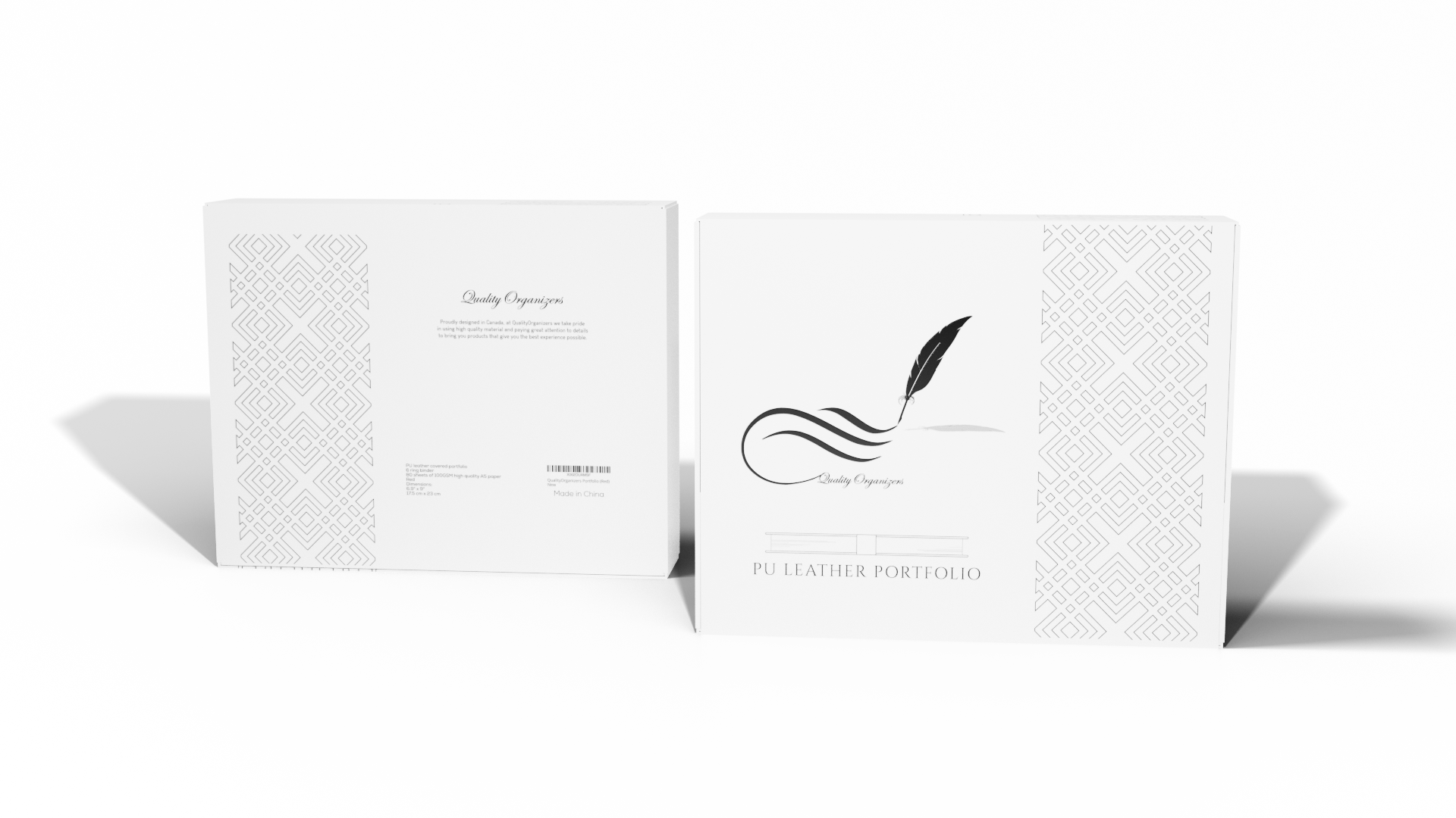 packaging for leather binder