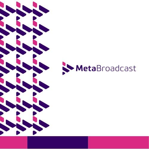 modern logo for Meta Broadcast
