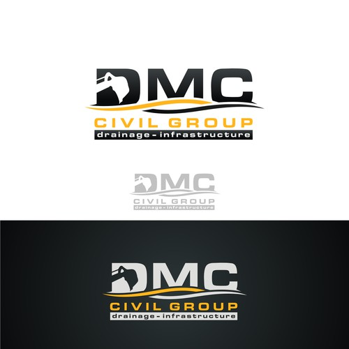 Create a bold logo for DMC Civil Group