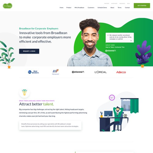 Web design for a SaaS Company