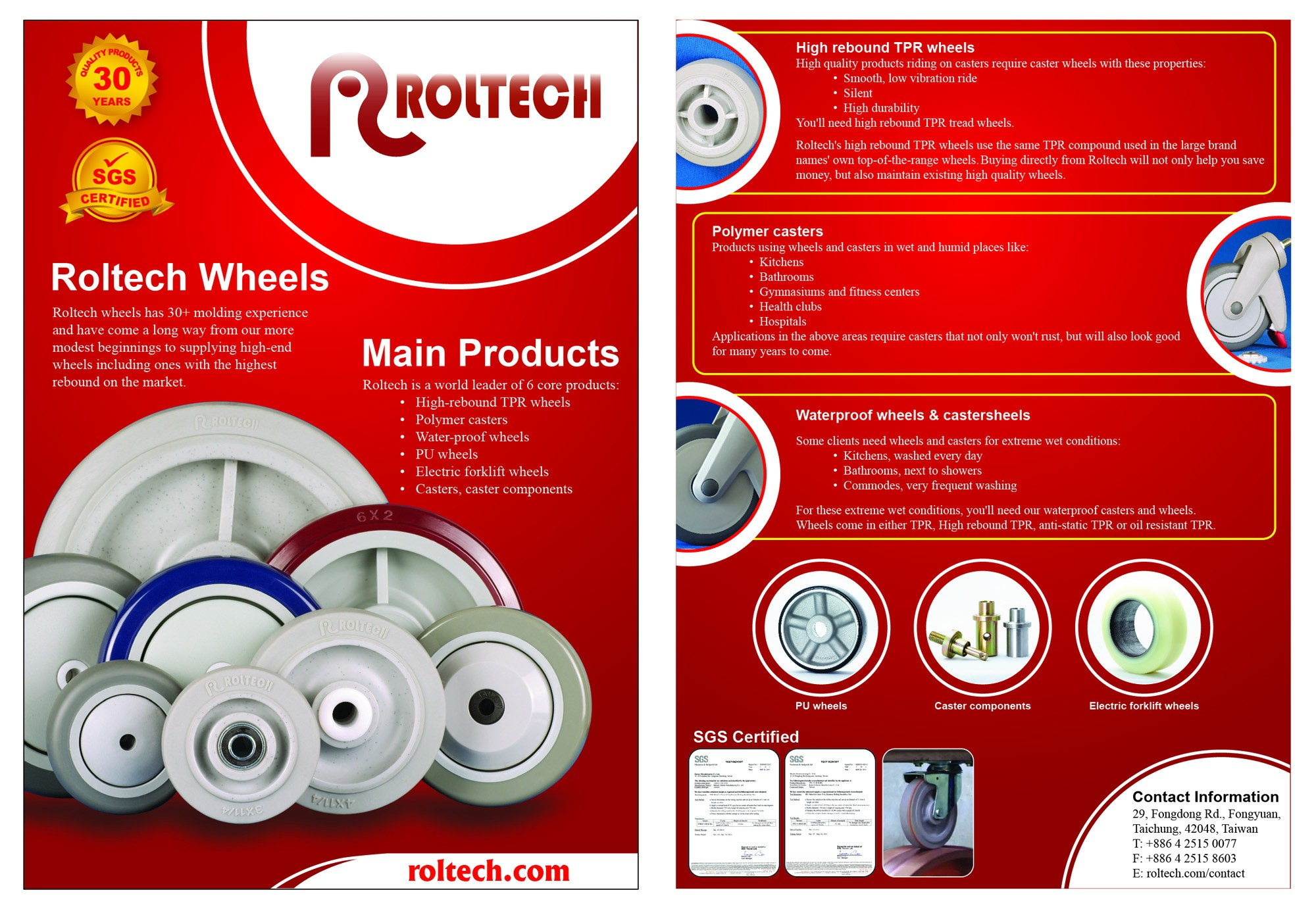 Create the next brochure design for Roltech