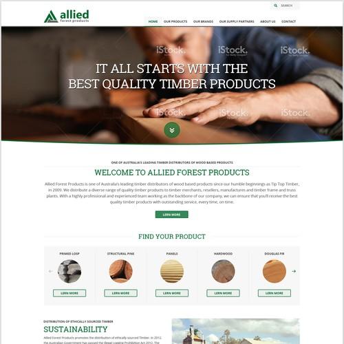 Web design for timber dealer