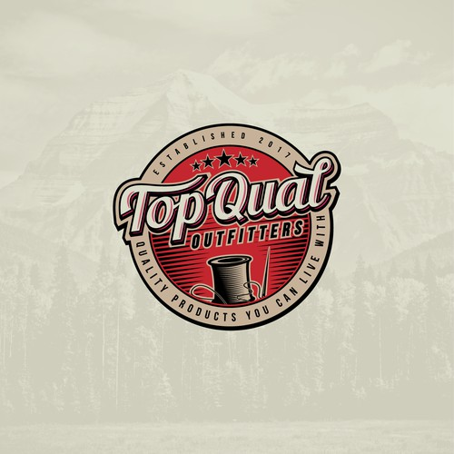 Vintage-style logo for retail company.