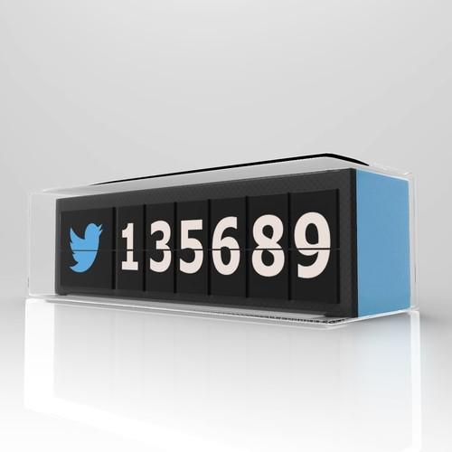 social media flip clock concept