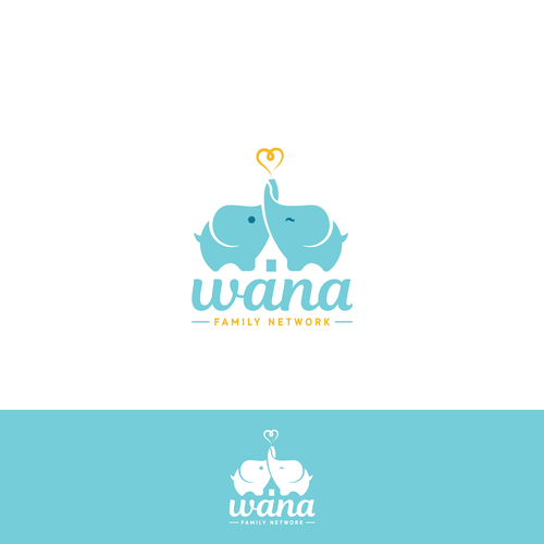 "Logo design for ""Wana"" - a social network for babysitting exchange between young families."