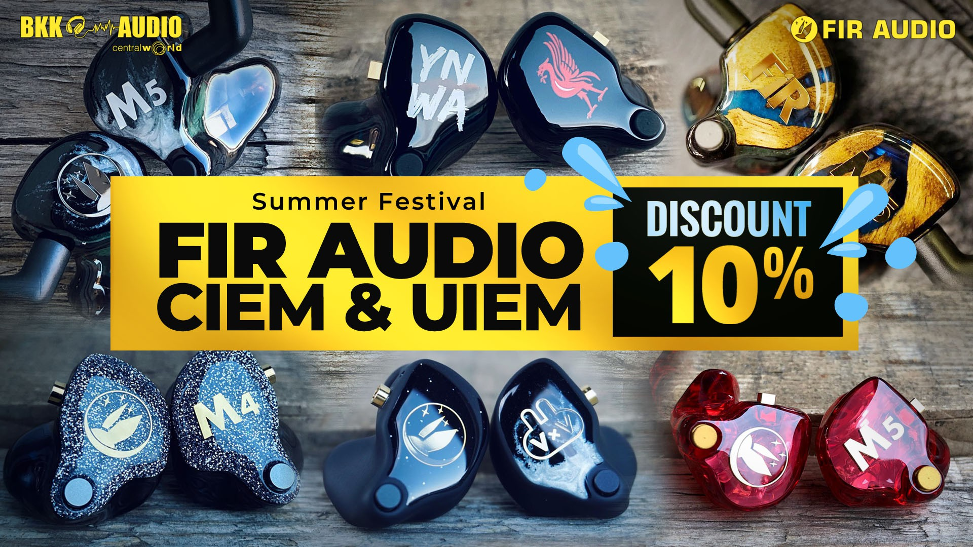 Banners ads for Fir Audio discount 10%