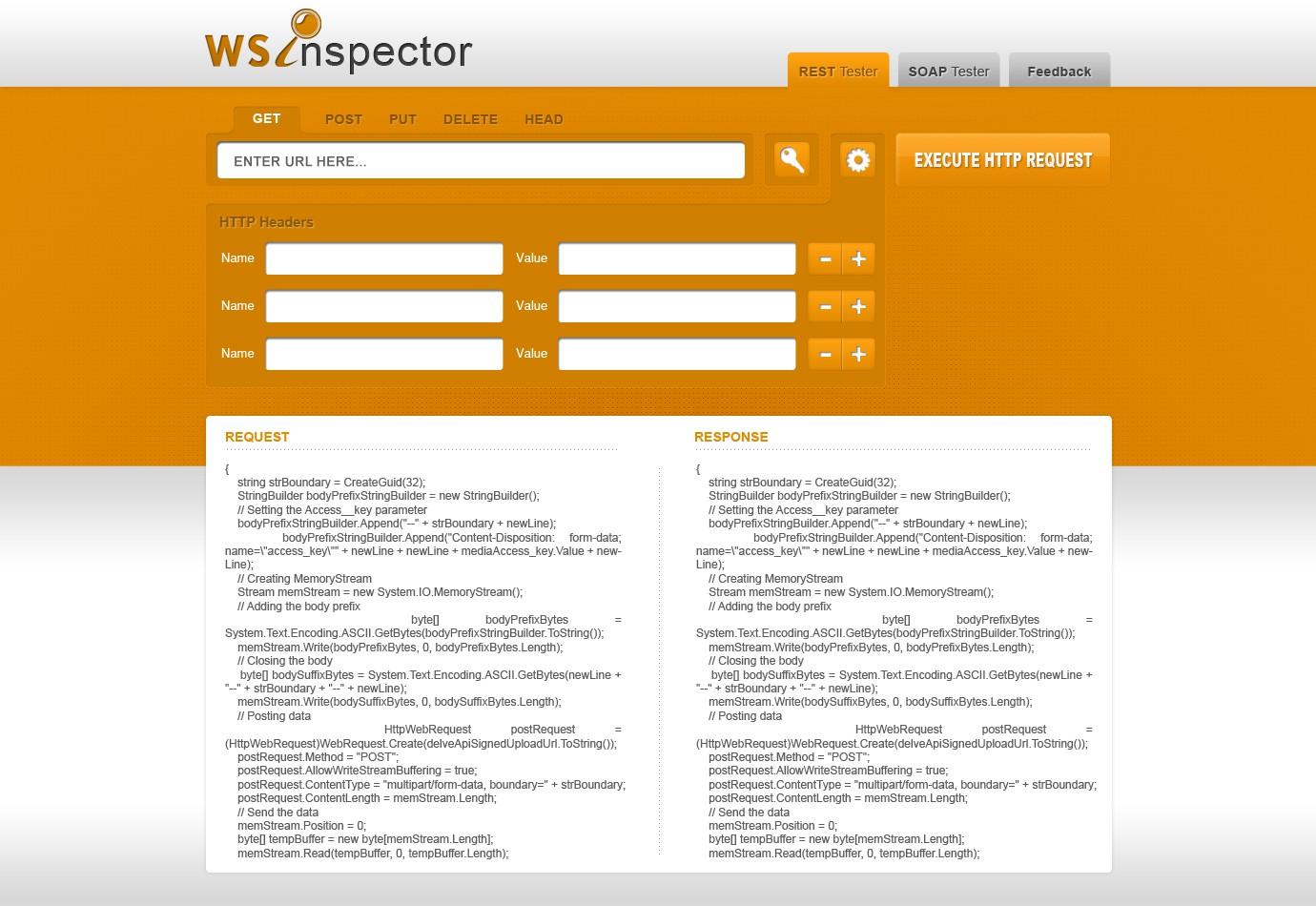 Create the next website design for WSInspector