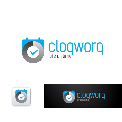 Cloqworq Logo: compel people to better manage their time