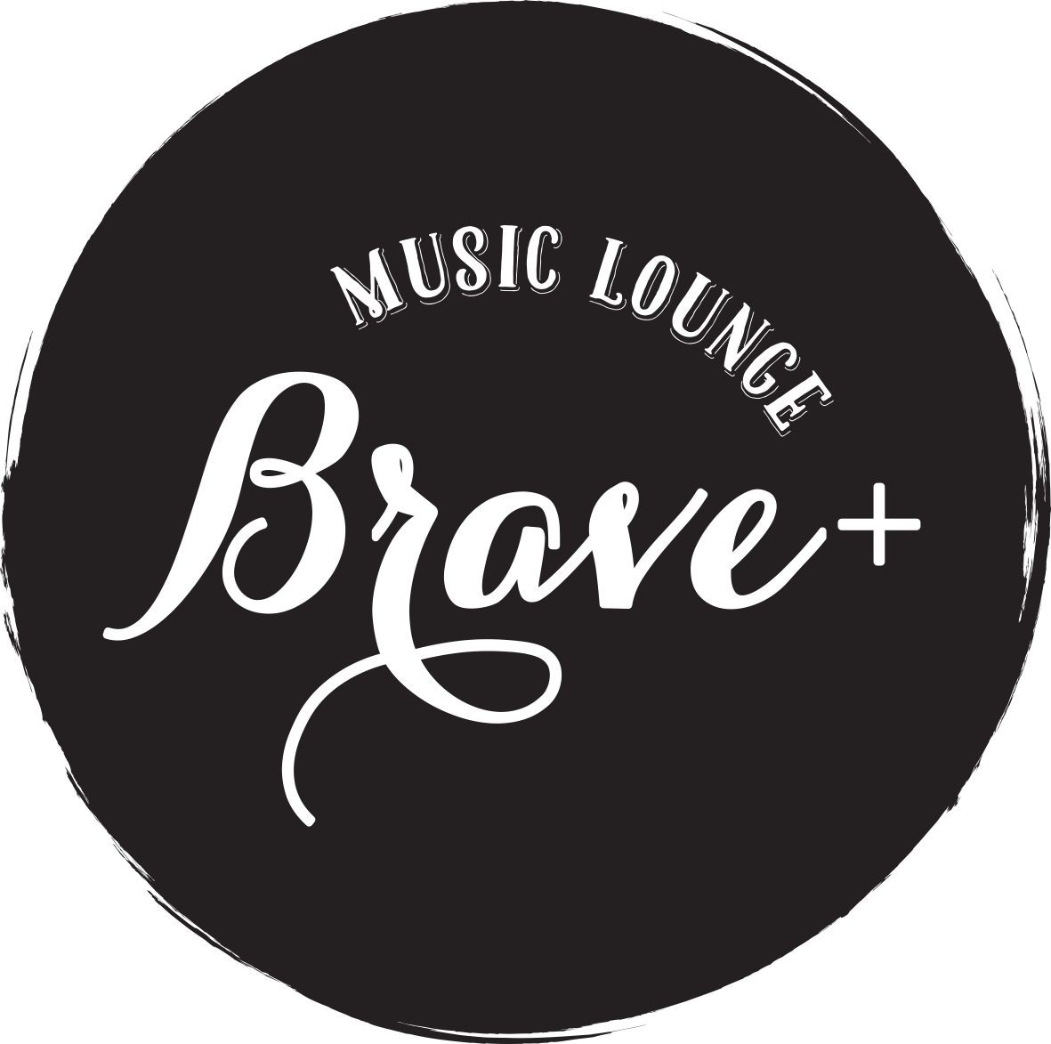 MUSIC LOUNGE BRAVE+のカッコイイロゴ