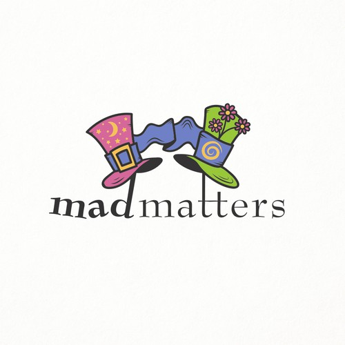 Playful yet sophisticated logo design for Mad Matters