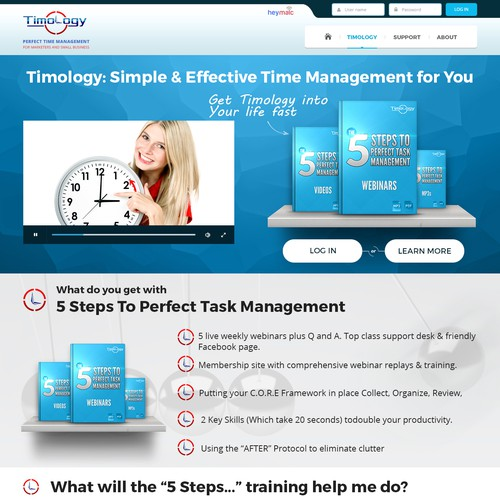 Bold concept for time management product