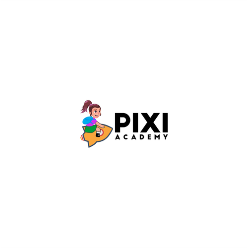 Fun Logo Concept for pixi academy