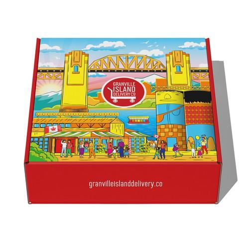Gift box design for Granville Island Delivery Co.