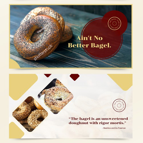 Designs for Social Media Ads (FB & IG) for The Bagel Club