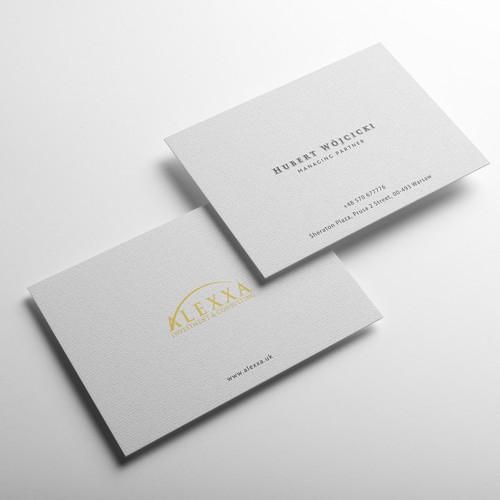Alexxa Business Card Design