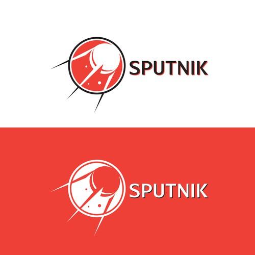 retro logo concept for sputnik bank