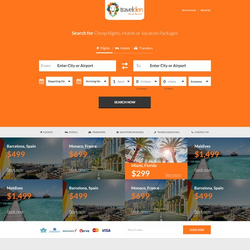 Travelden Flights Booking website