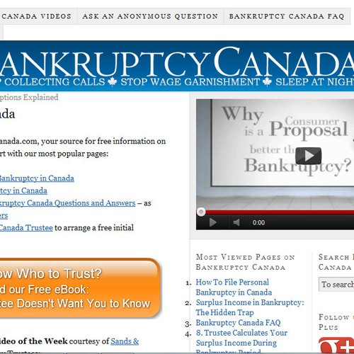 Help Bankruptcy Canada with a new logo