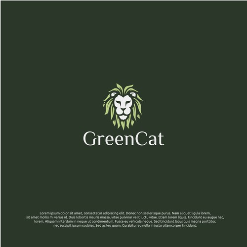 logo concept for greencat