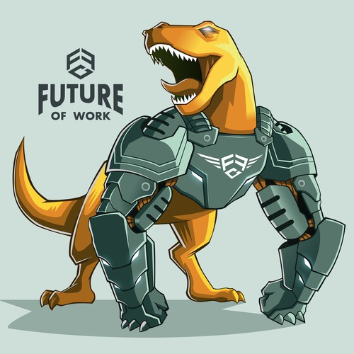 Robo-Saur Mascot for Founders Fight Club